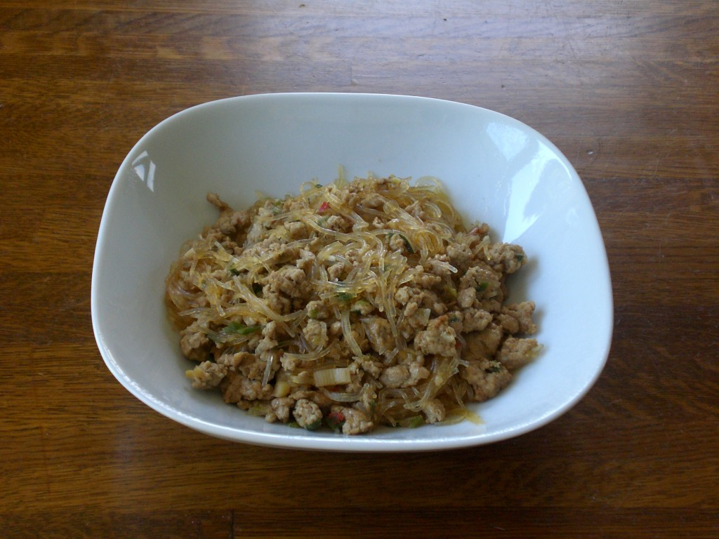 Harusame with pork