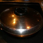 place lid on pan