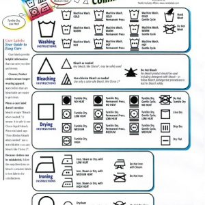 Learn The International Laundry Symbols To Take Care Of Your Clothes