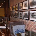 Tea House with old photos on wall
