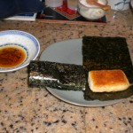 Japanese Mochi with Nori - Isobeyaki