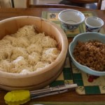 Miso Ground Pork with Somen