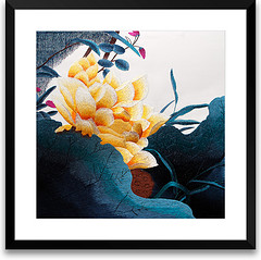 Art of Silk golden lotus flower