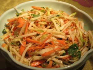 tricolor Daikon salad