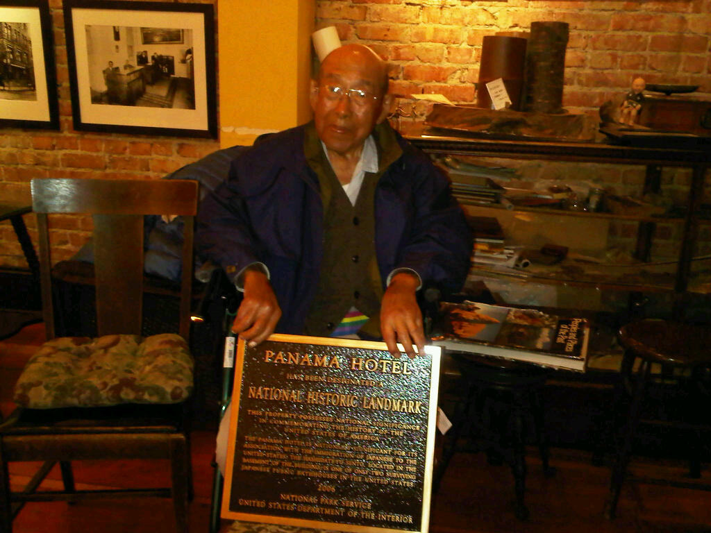 Mr. Hori with plaque