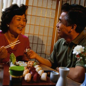 Couple Enjoying Sushi