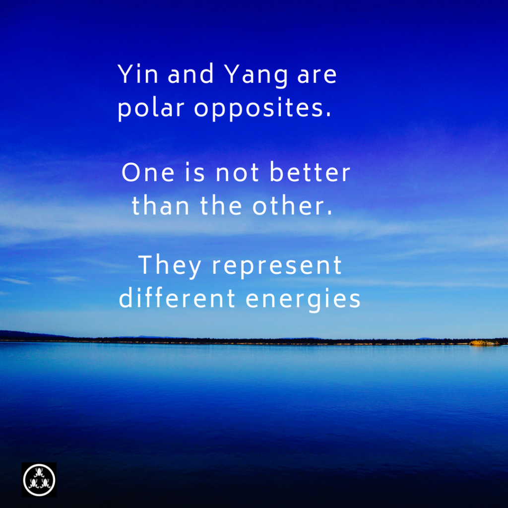 Yin Yang of energies