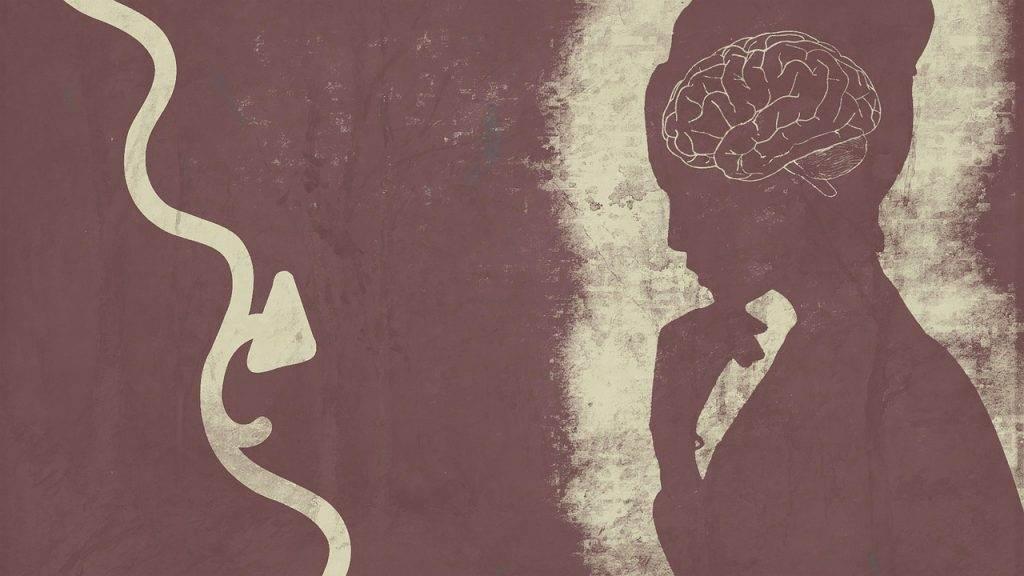 brain, woman, pondering