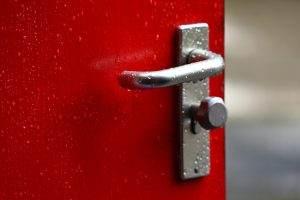 door handle, doorknob, lock