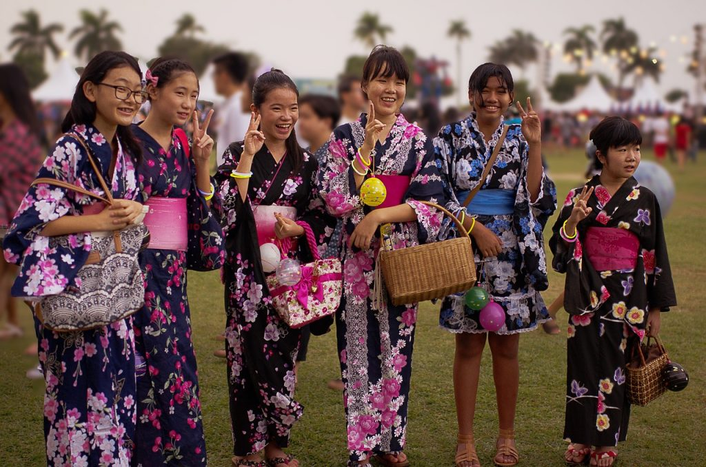 japanese teenager, japanese girl, bon odori