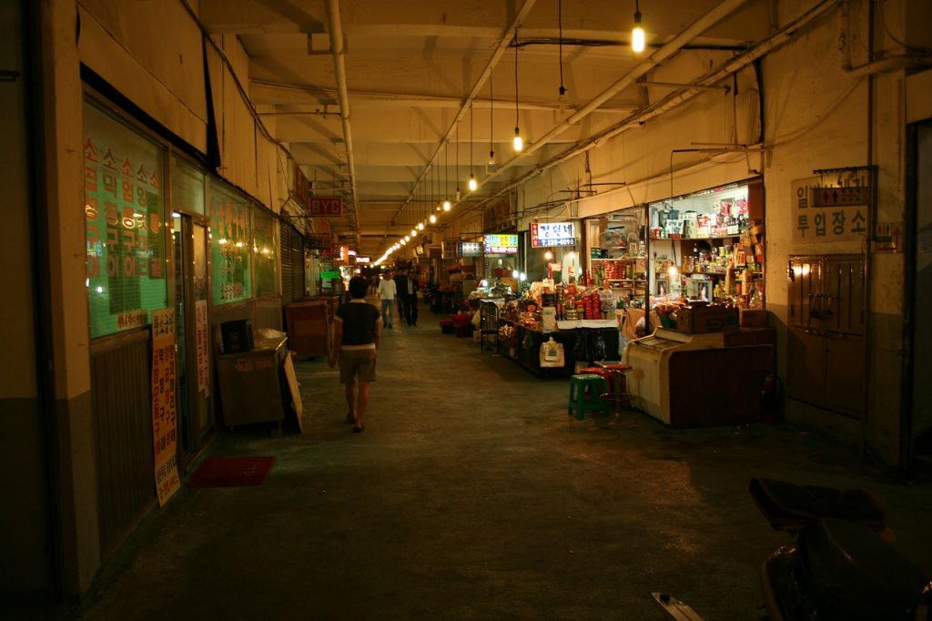 market, korea, seoul
