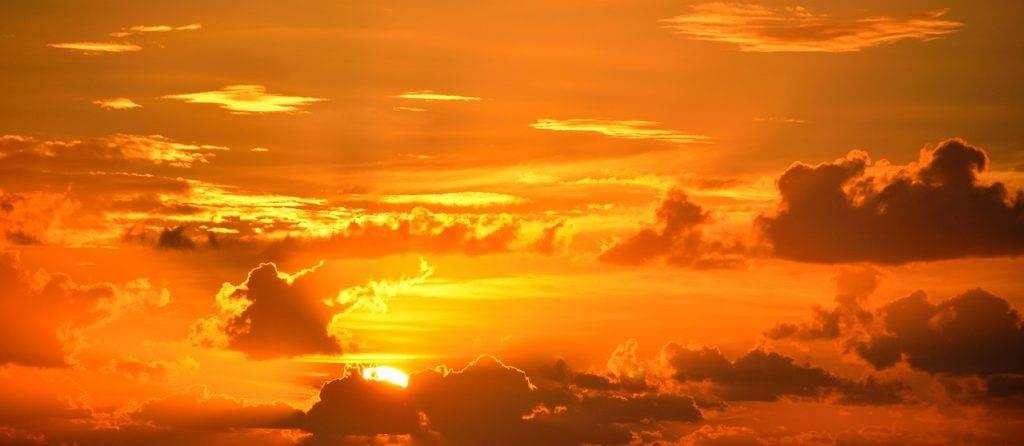 sun, sky, clouds