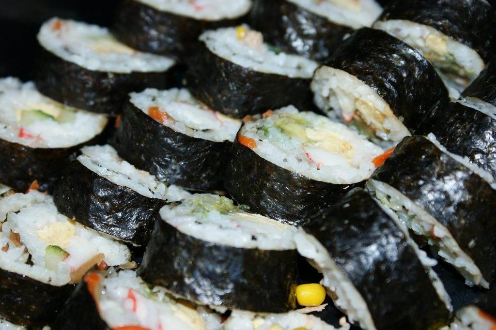 sushi, food, rice