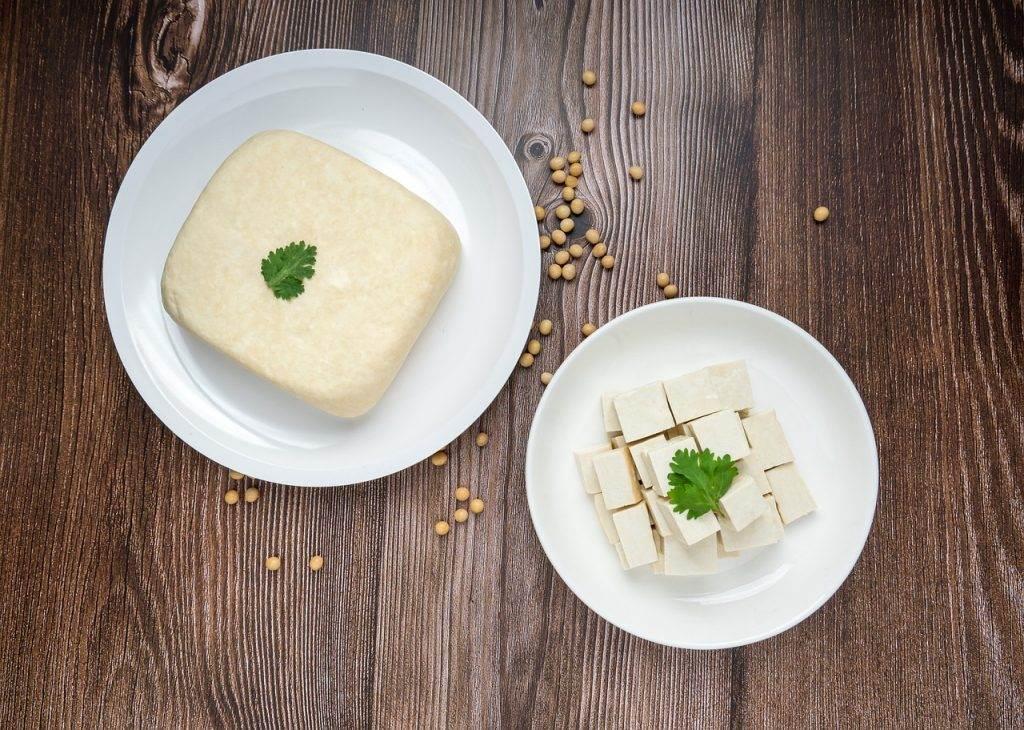 tofu, soybeans, food