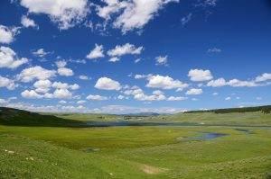 valley, field, landscape